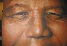 Nelson MANDELA (Peinture de Claude CAUQUIL)