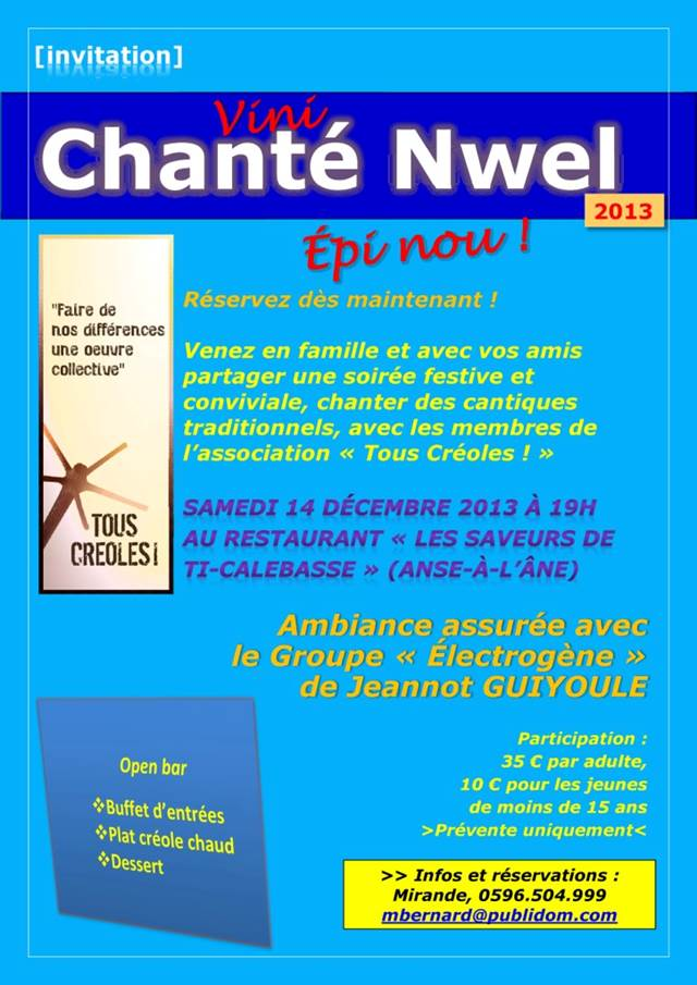 Chanté Nwel 2013 : sa ké bèl !